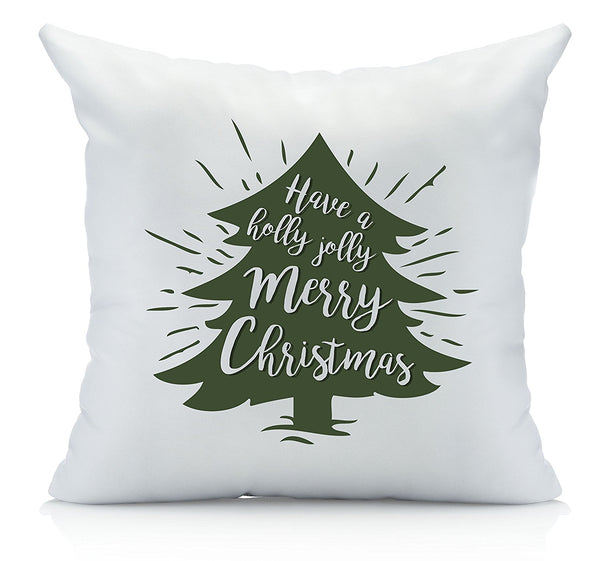 Holly Jolly Christmas Throw Pillow Cover Multicolor (1 18 by 18 Inches) Christmas Gifts