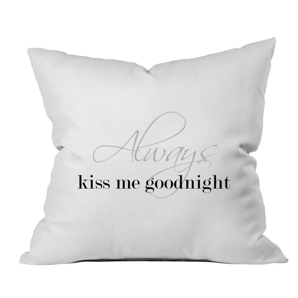 Always Throw Pillow (1 18x18 inch, White)