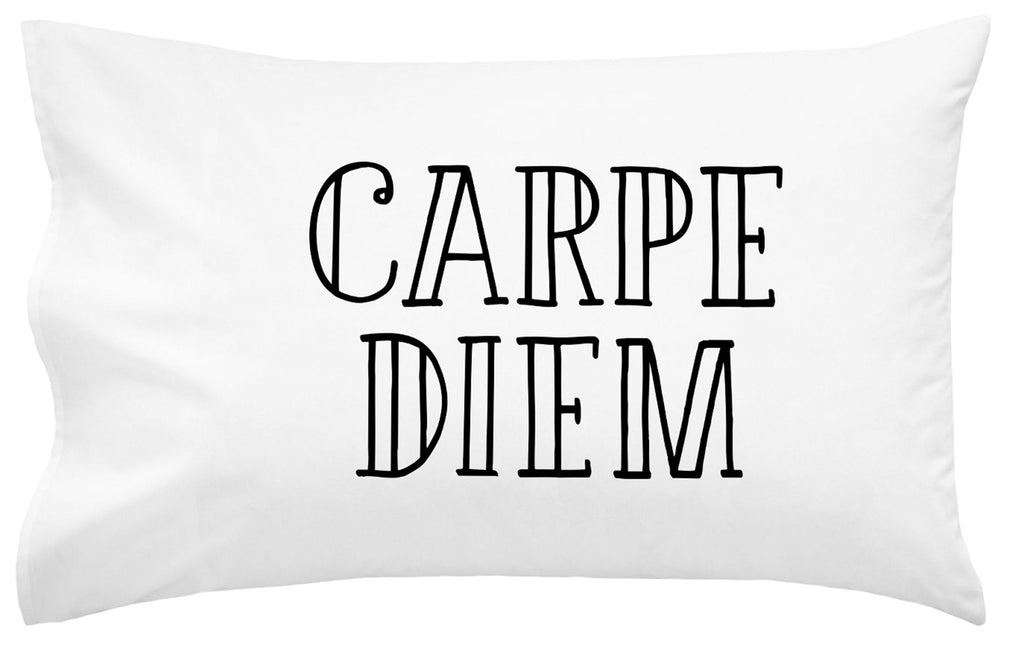 "Carpe Diem Straight 20"" x 30"" Standard Pillow Case"