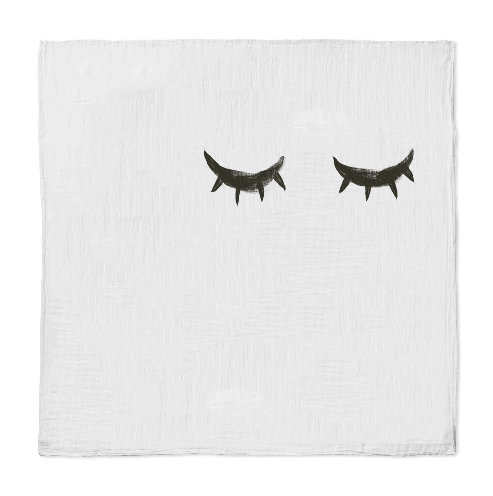 Closed Eyelashes Swaddle Blanket