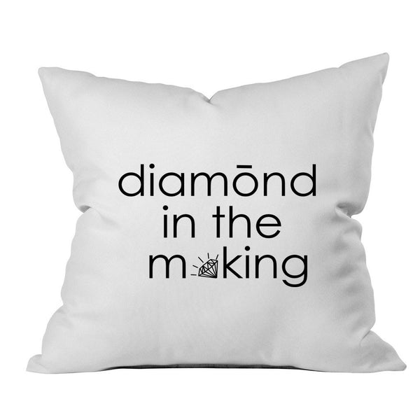 Diamond in the Making Throw Pillow Cover