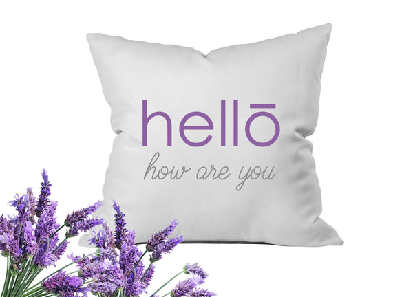 Hello How Are You Throw Pillow Cover