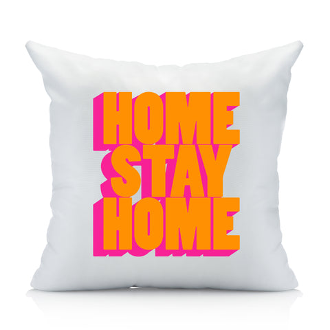 Home Stay Home Bold Throw Pillow Cover