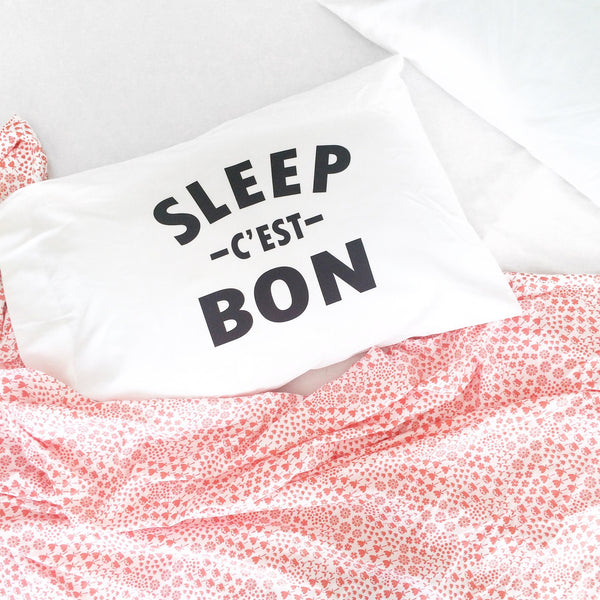 "Sleep c'est Bon 20"" x 30"" Pillow Cover"
