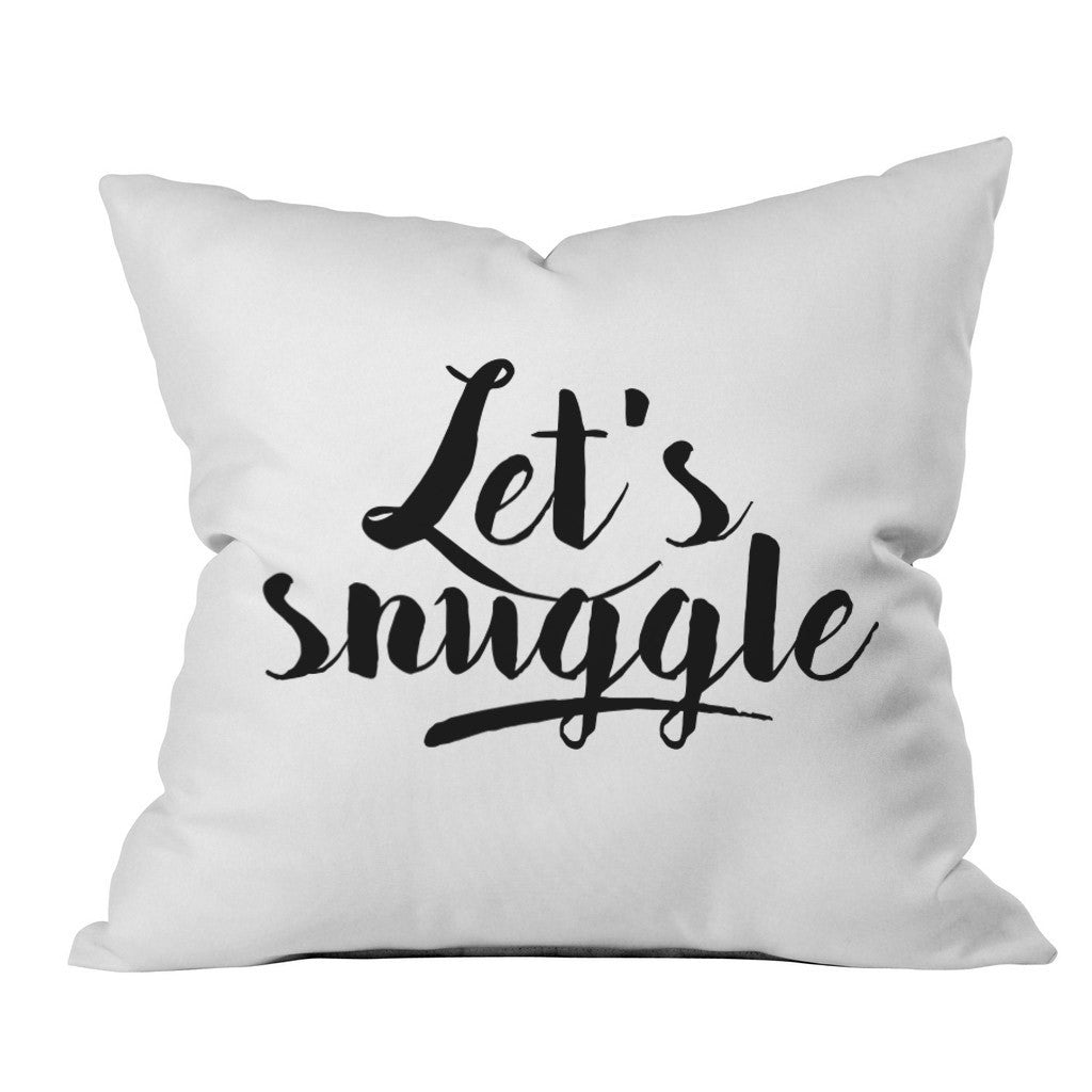 Let's Snuggle 18x18 Inch Throw Pillow Cover