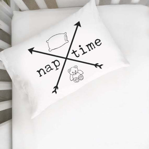 Naptime Arrows Toddler Pillowcase