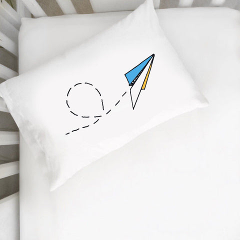 Paper Airplane Toddler Pillowcase