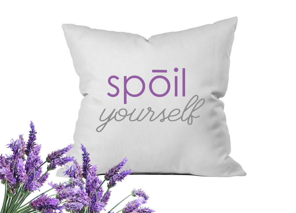 Spoil Yourself Throw Pillow Cover