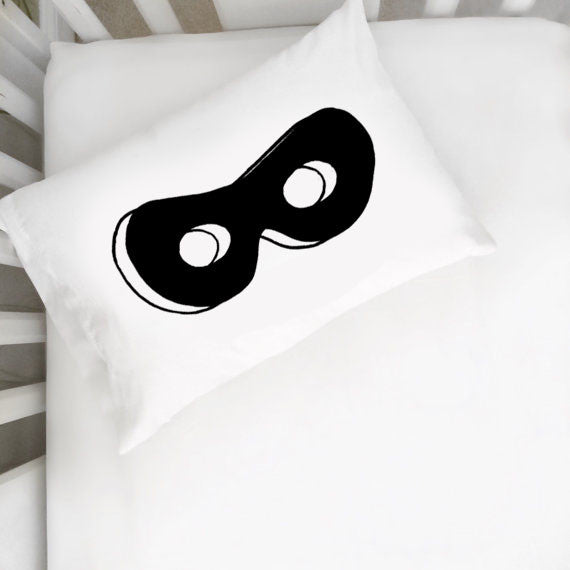 Superhero Mask Toddler Pillowcase