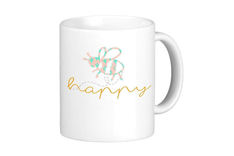 Bee Happy Mug - 11oz Coffee Mug