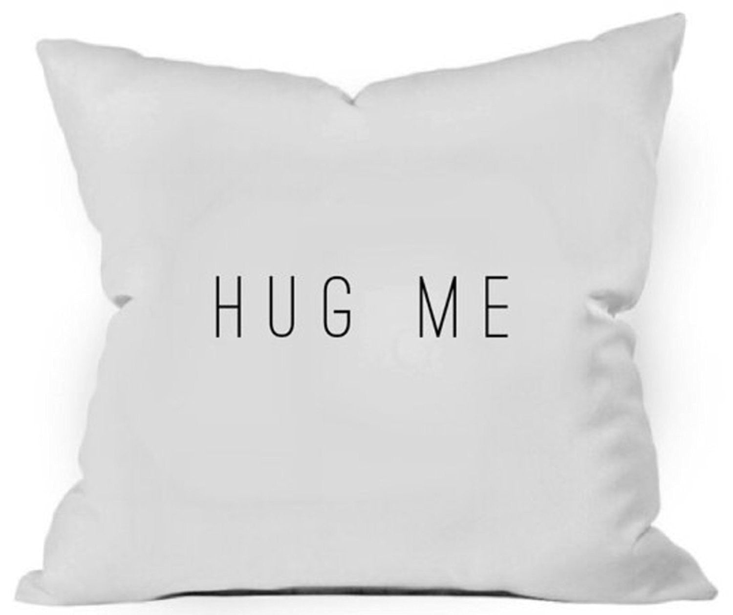 Hug Me Throw Pillow Cover - Bereavement Gift Pillowcase (1 18x18 inch, White)