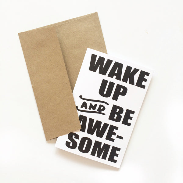 Wake Up and be Awesome Set of 6 Greeting Cards