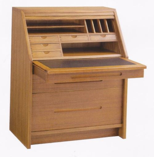 Teak Secretary Desk by San Cabinet