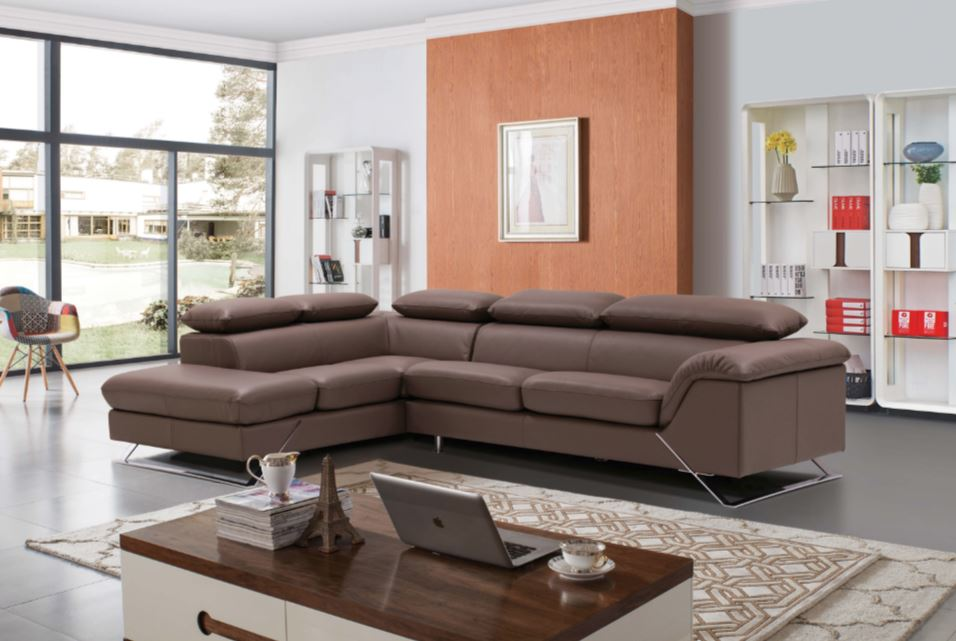 Caracas Leather Sectional/w Bed by ESF