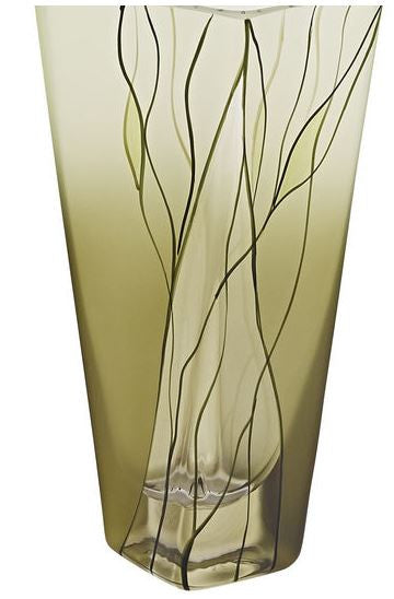 Evergreen 8 inch Square vase