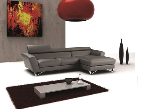 SPARTA MINI ITALIAN LEATHER SECTIONAL by J&M