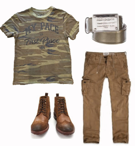 Men's Camo Casual Look