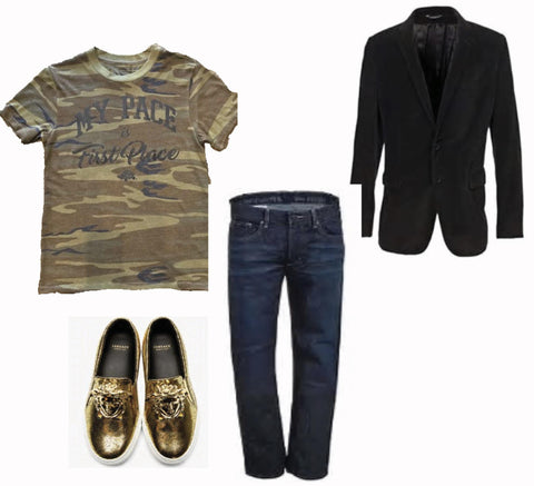 Men's Dressed Up Camo Look