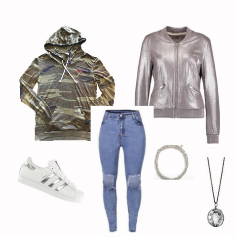 Women's Camo Metallic and Camo Casual Combination