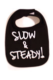 Black Slow & Steady Bib