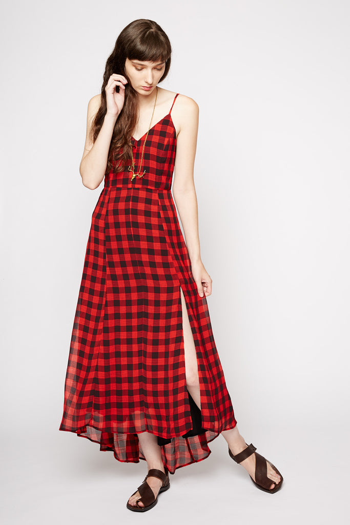 Line and Dot Empire Records Maxi Dress