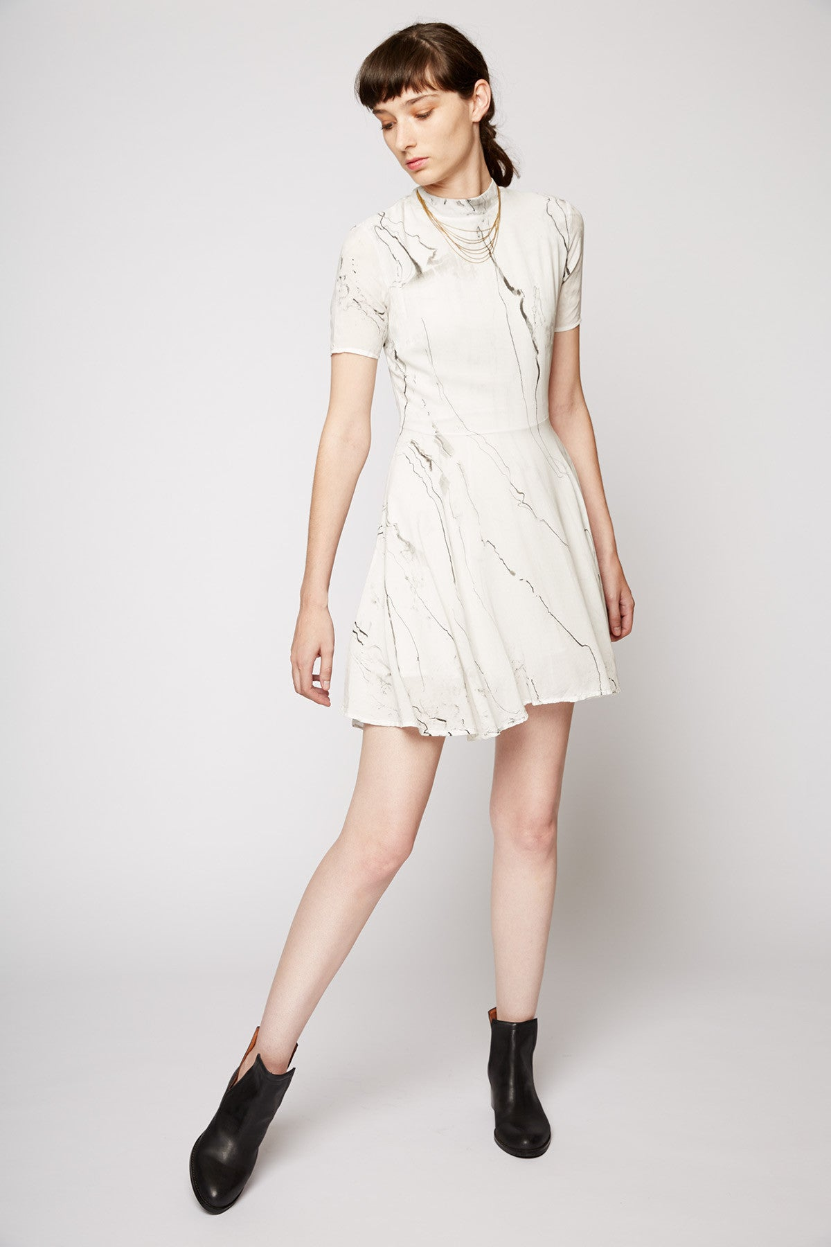 Tina + Jo Skater Dress in Marble