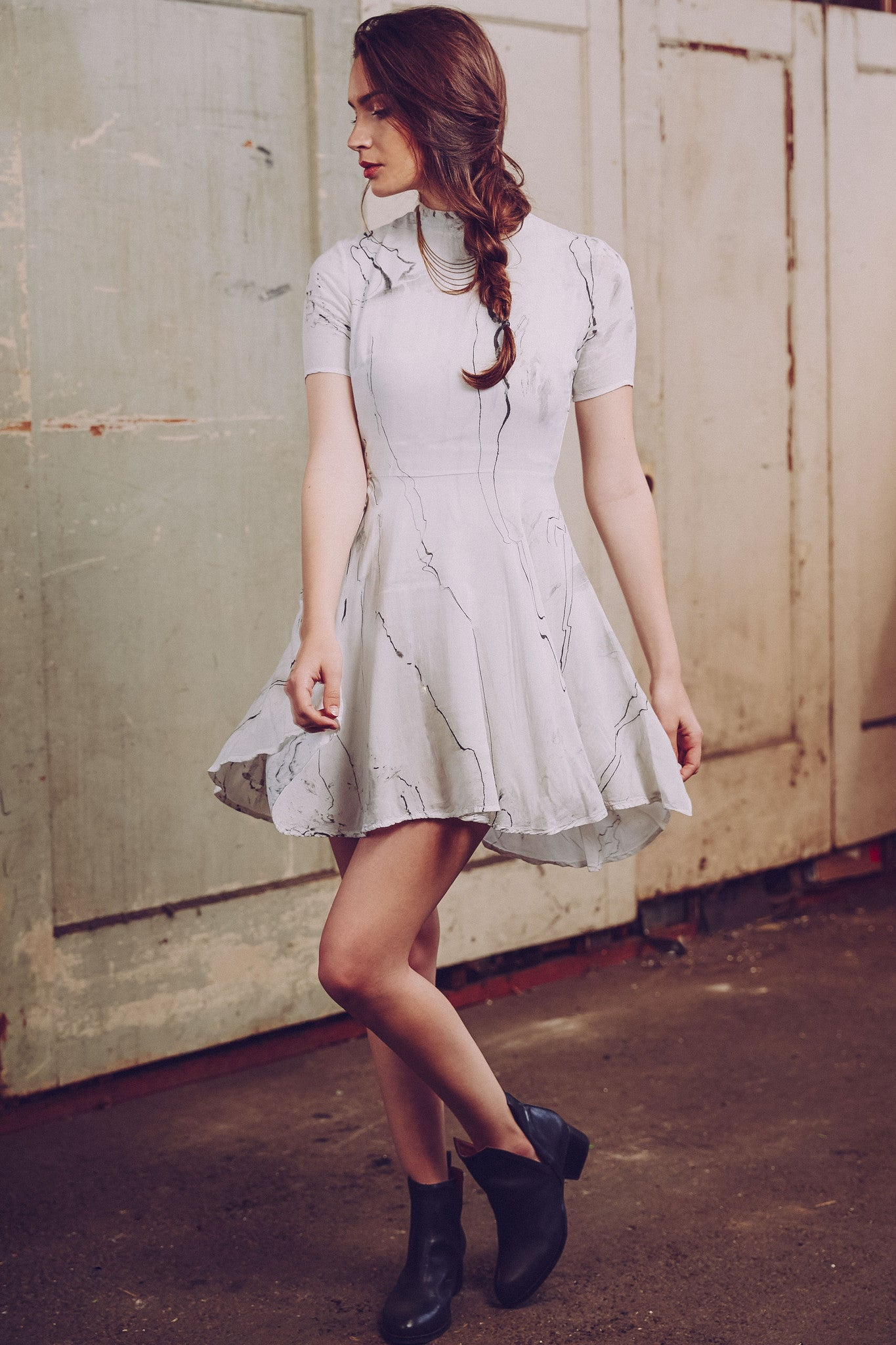 Aura Hand-Painted Skater Dress by Tina + Jo