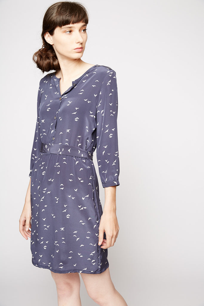 Amour Vert Hana Dress in Navy Dove