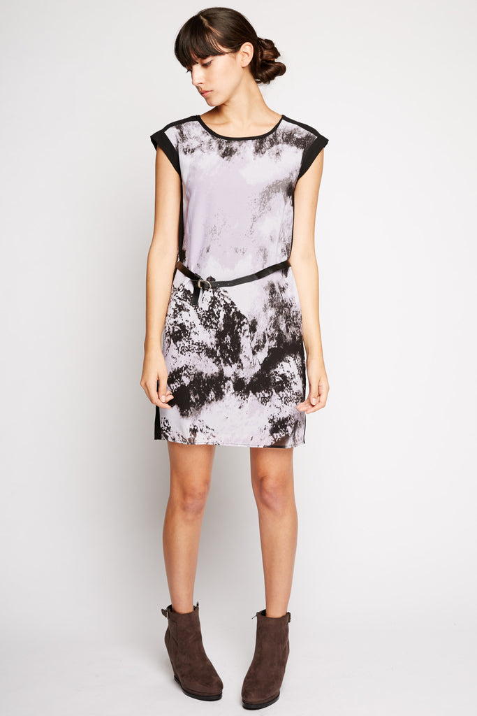 Vela Abstract Print Dress by Peppercorn
