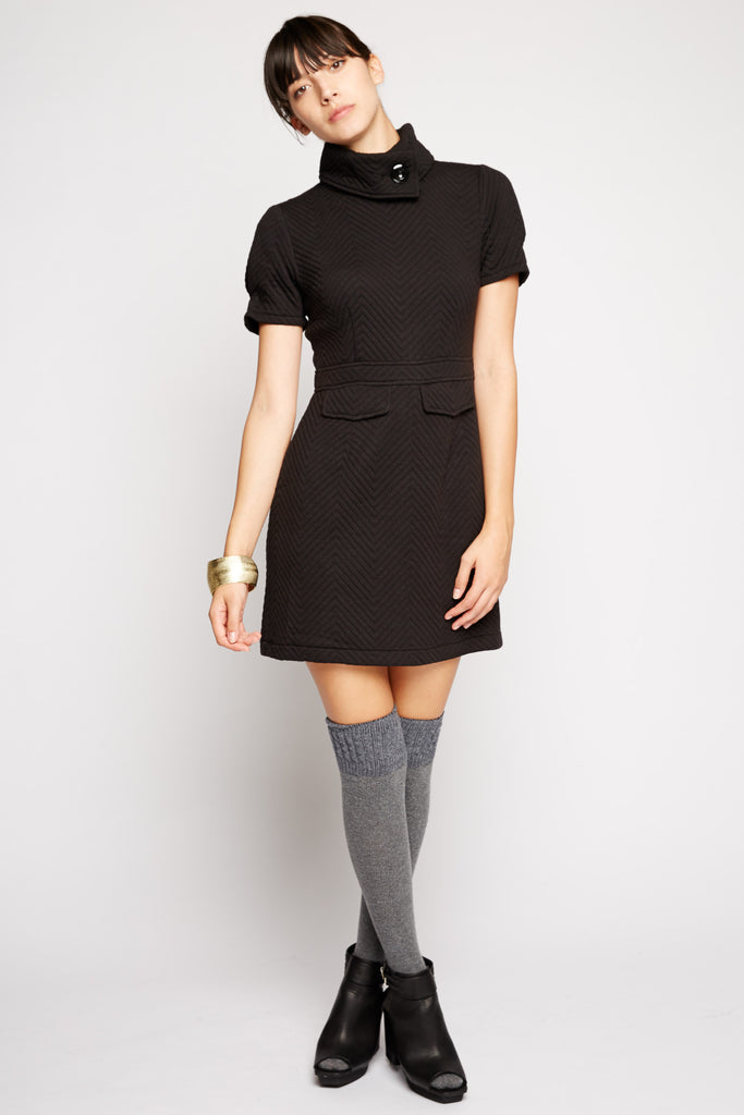 Pyxis Collar Sweater Dress by Tulle