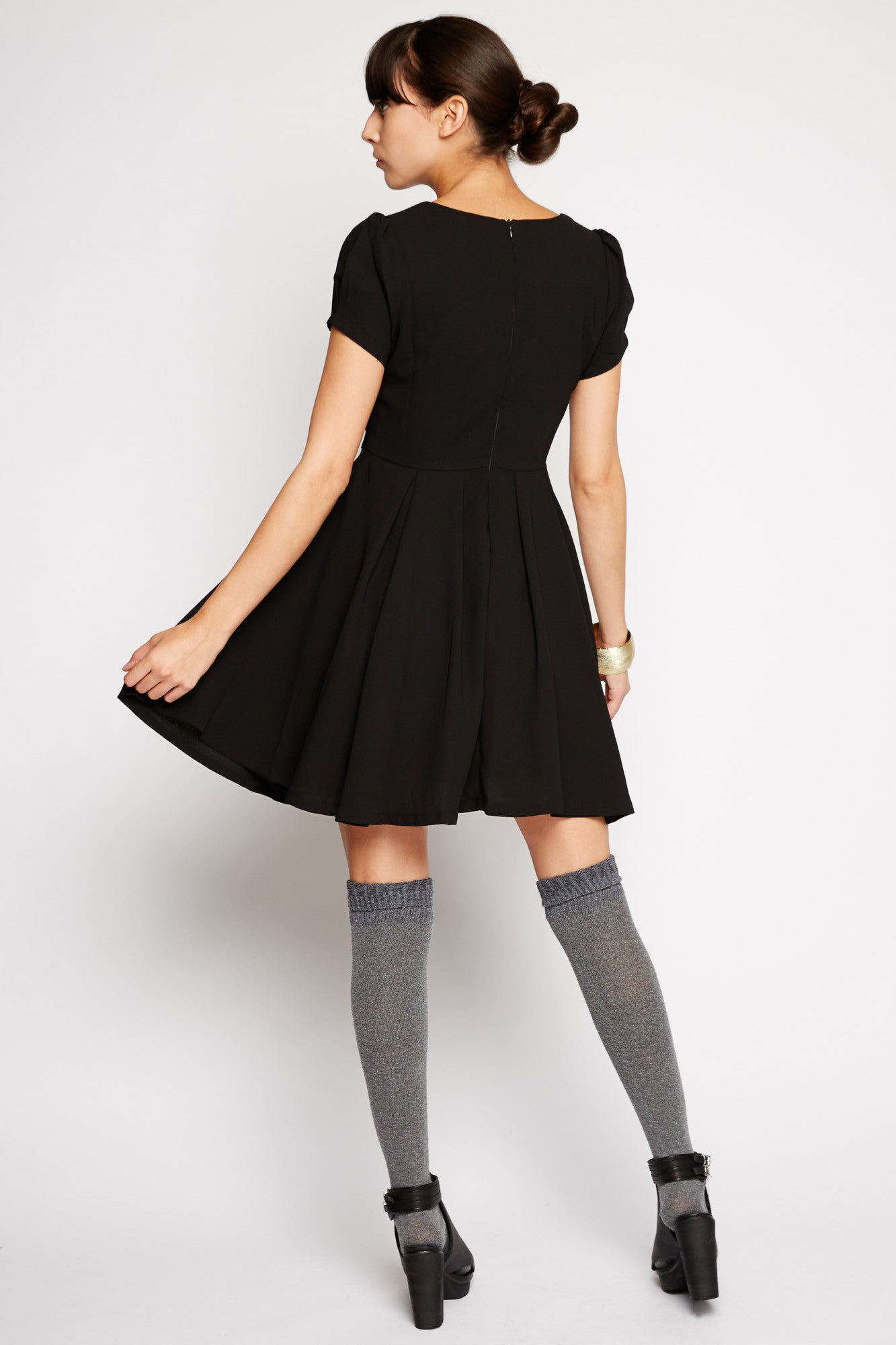 Lyra Black A-line Dress by Kling