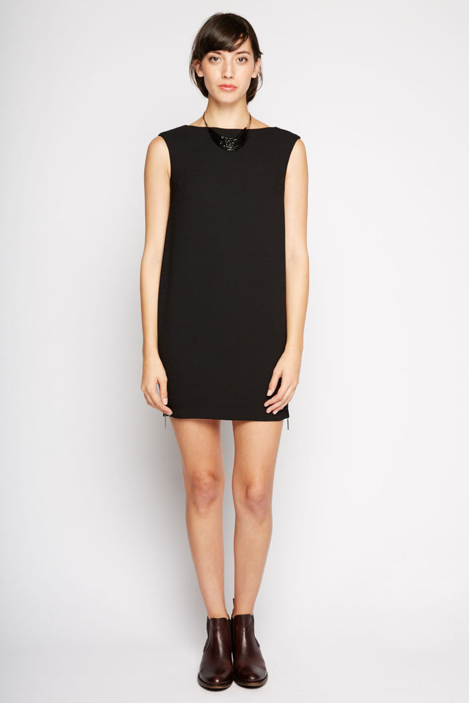 Side Zipper Shift Dress by Peppercorn