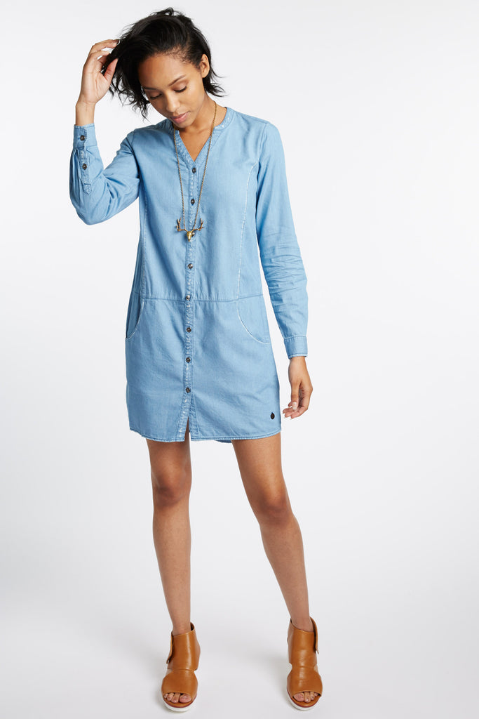 Avila Chambray Shirt Dress