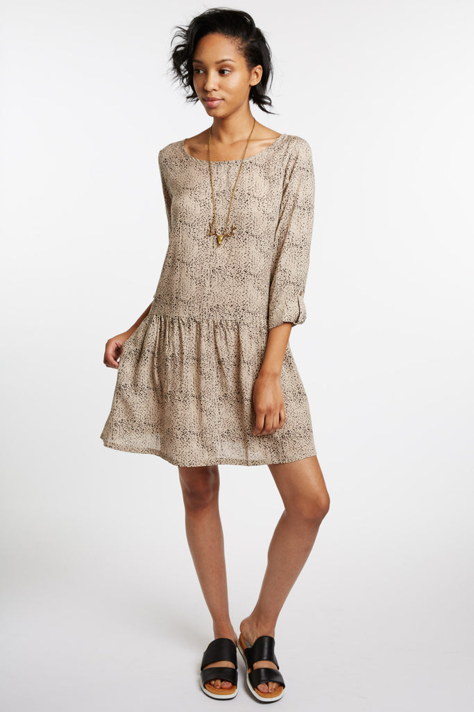 Castiglione Drop-Waist Print Dress by Peppercorn
