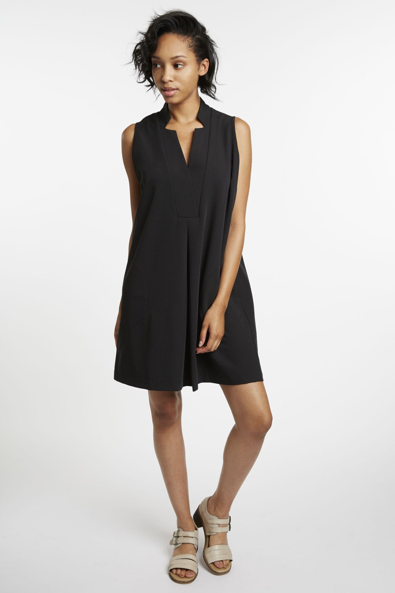 Copernicus Black Trapeze Dress by Karen Klein