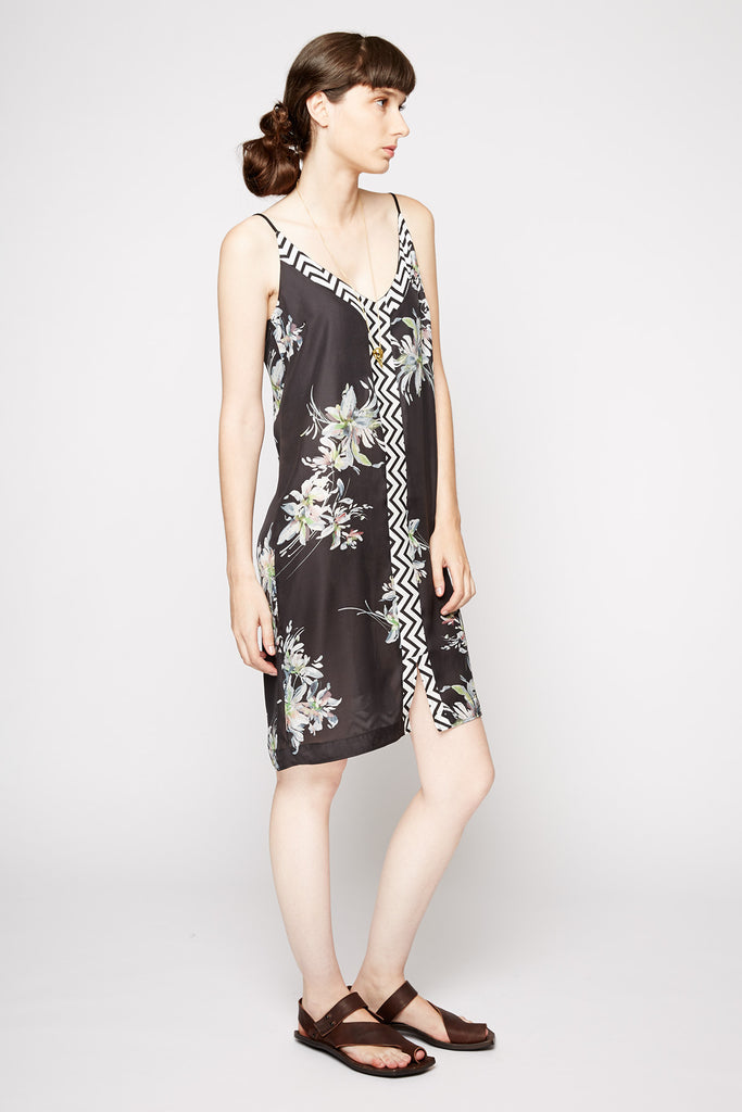 Naftul Floral Silk Cocktail Dress