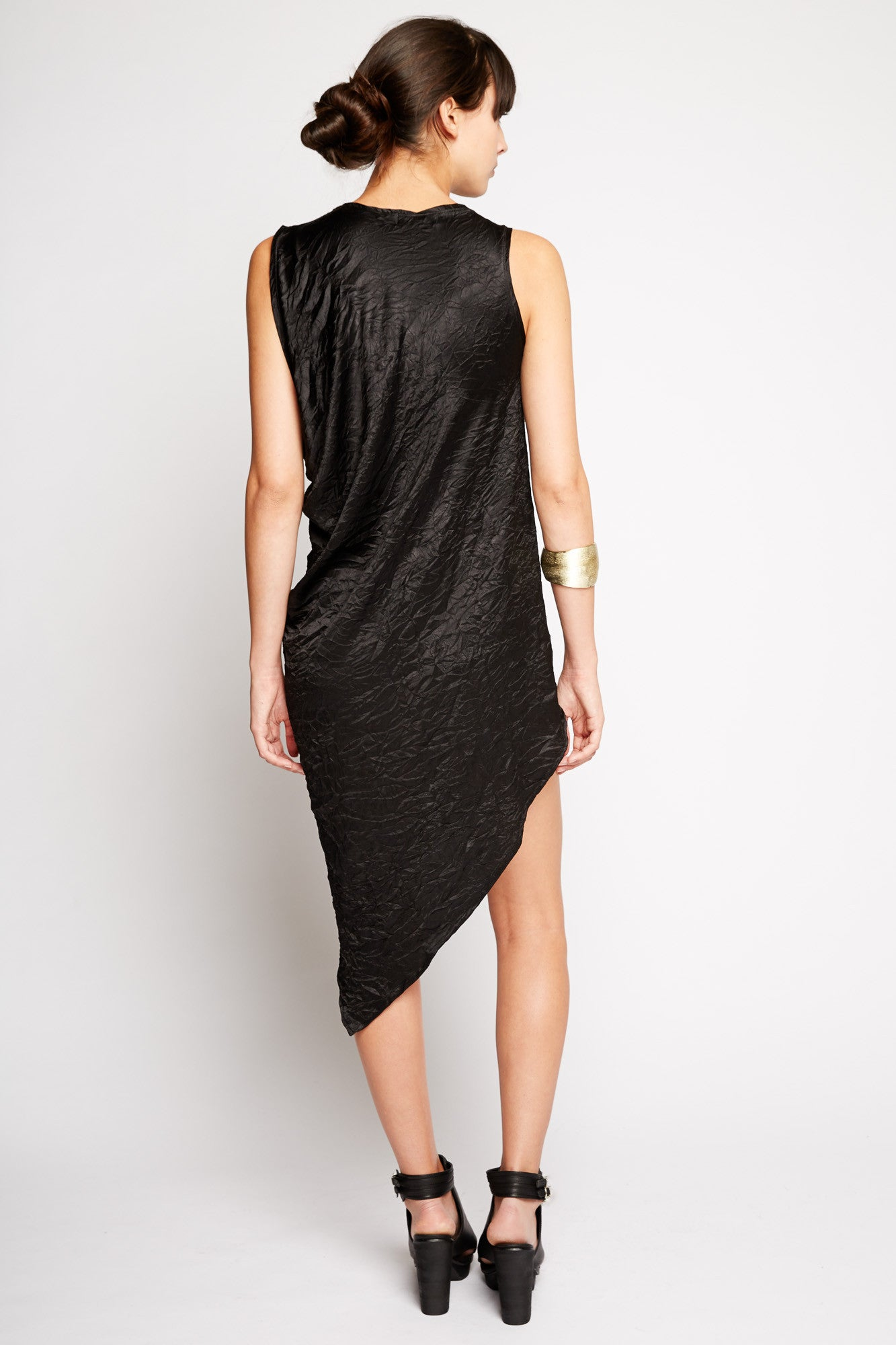 Hypnos Crinkled Silk Dress by Ovate