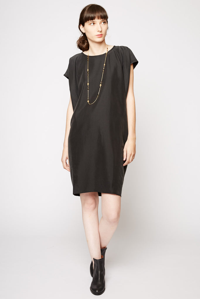 Michal Nir Black Oversized Shift Dress