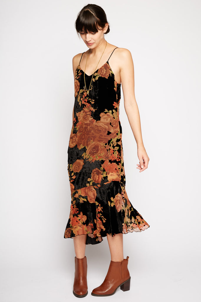 Andromeda Floral Midi Dress by Line and Dot