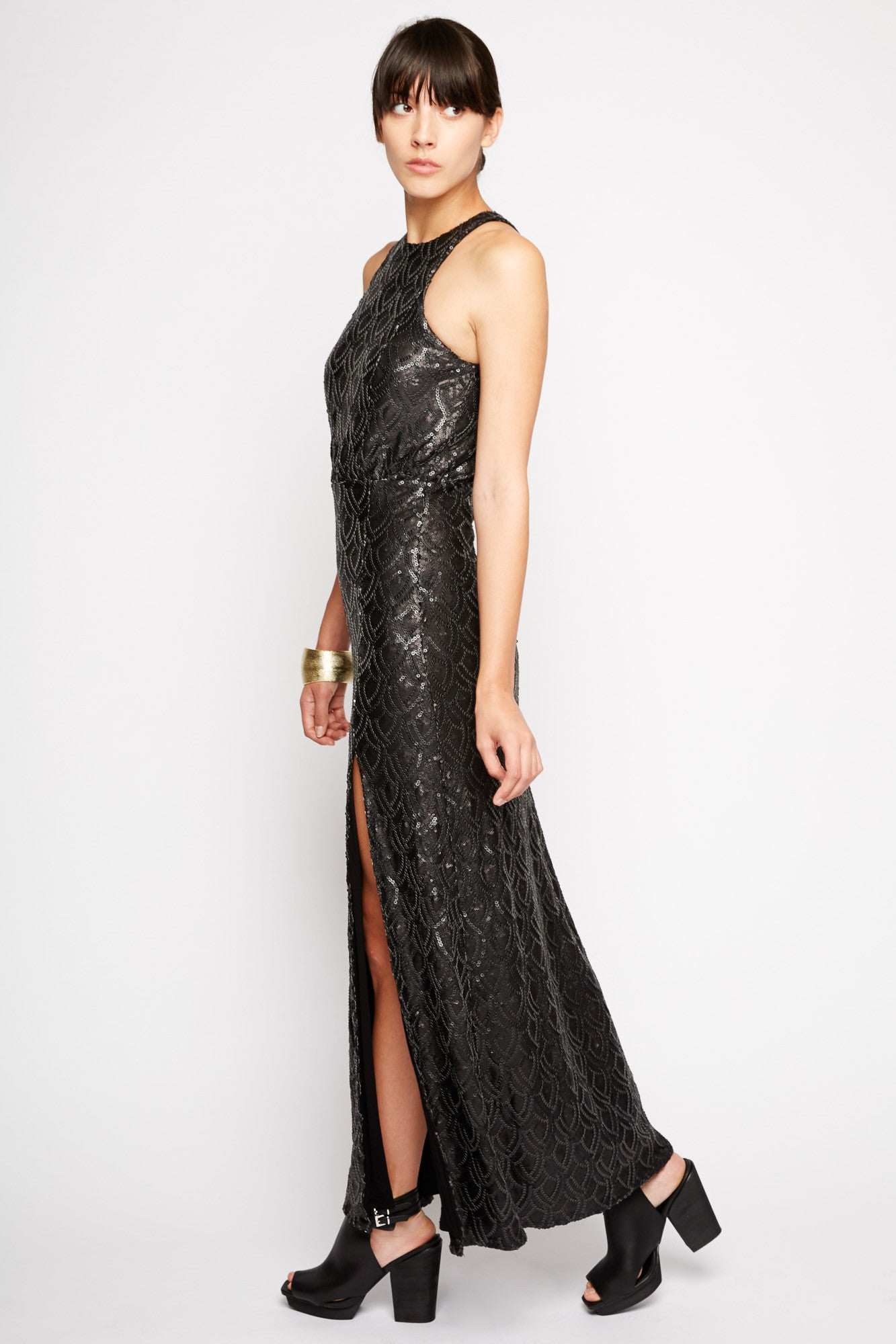 Orion Sequin Maxi Dress by Line and Dot