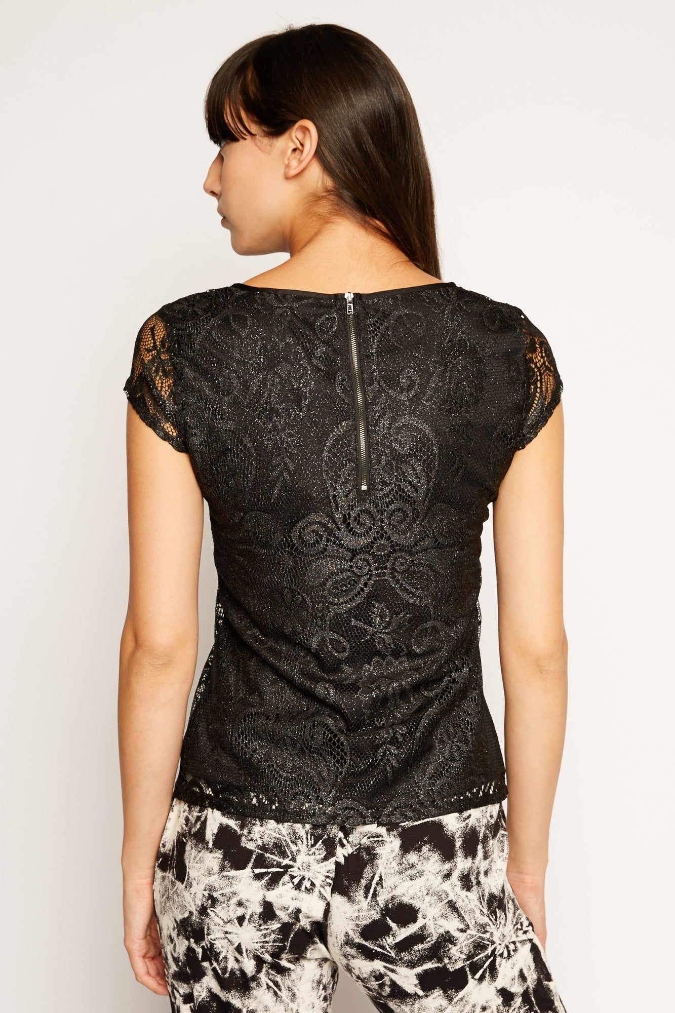 Lace Overlay Top by Peppercon