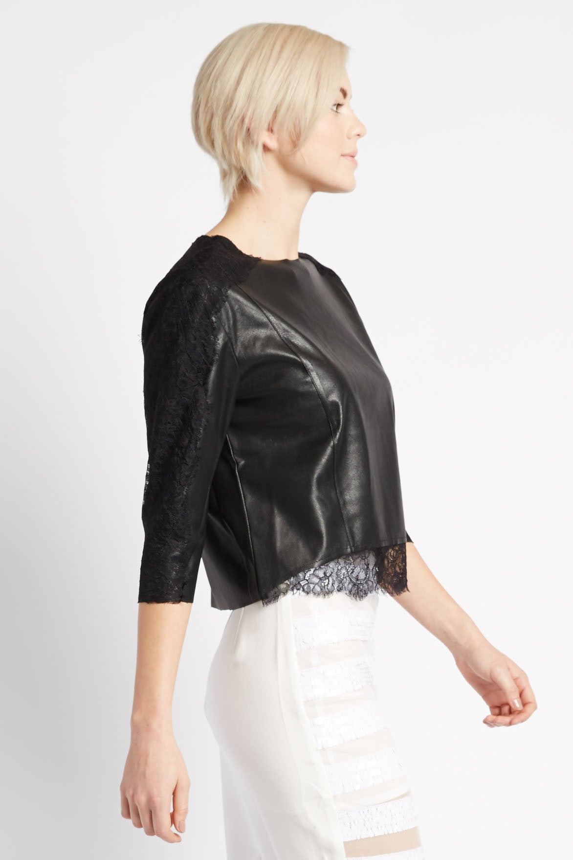 Leather and Lace Top by Search for Sanity