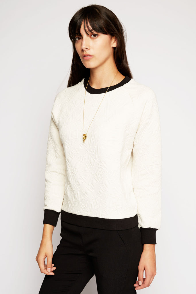 Ananke Quilted Pullover Sweater by Tulle