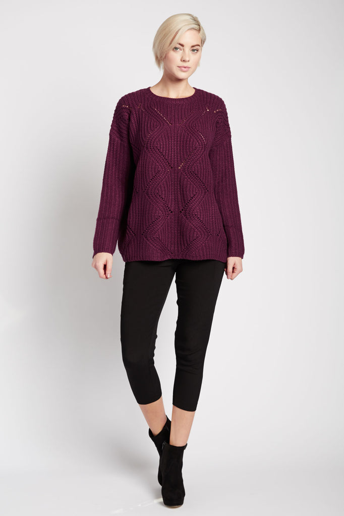 Madhuri Purple Sweater by Kling