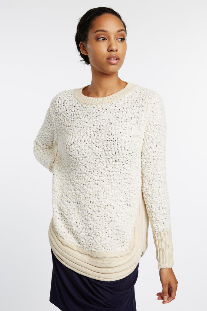 Astophor Nubby White Sweater by d.Ra