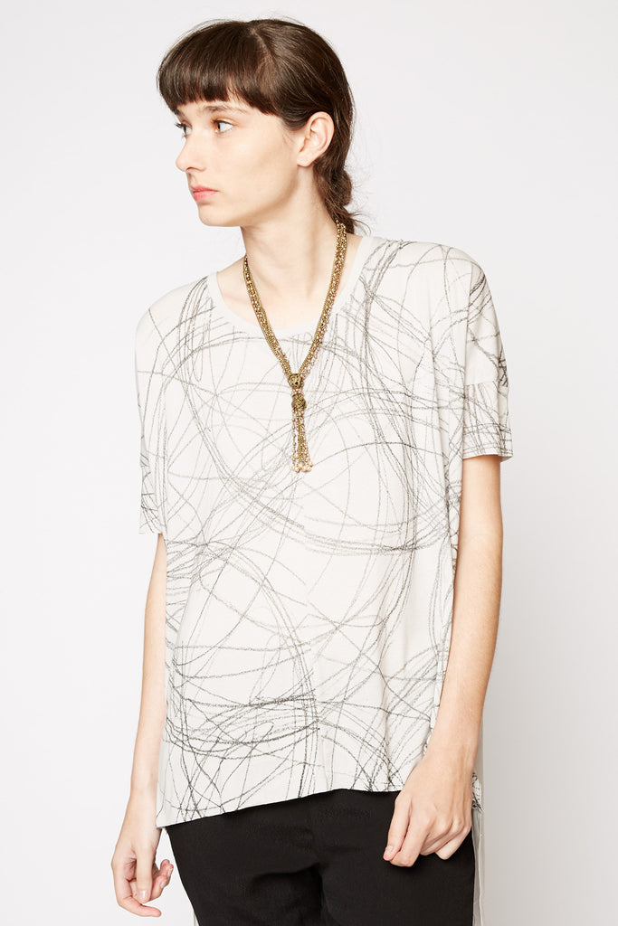 Michal Nir Graphic High-Low Tee