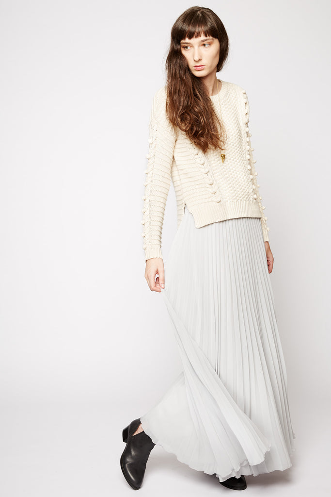 Mnemosyne Pleated Maxi Skirt