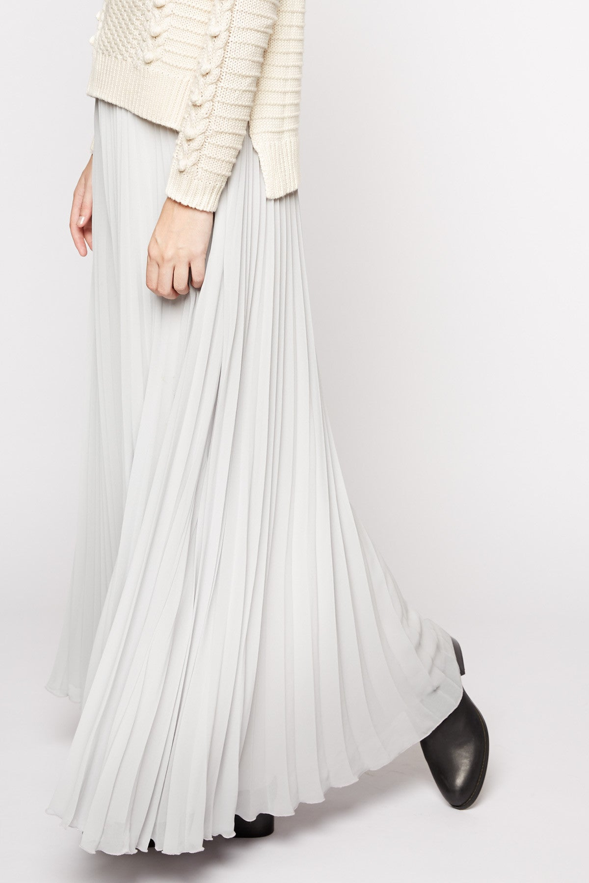 Rubber Ducky Pleated Maxi Skirt