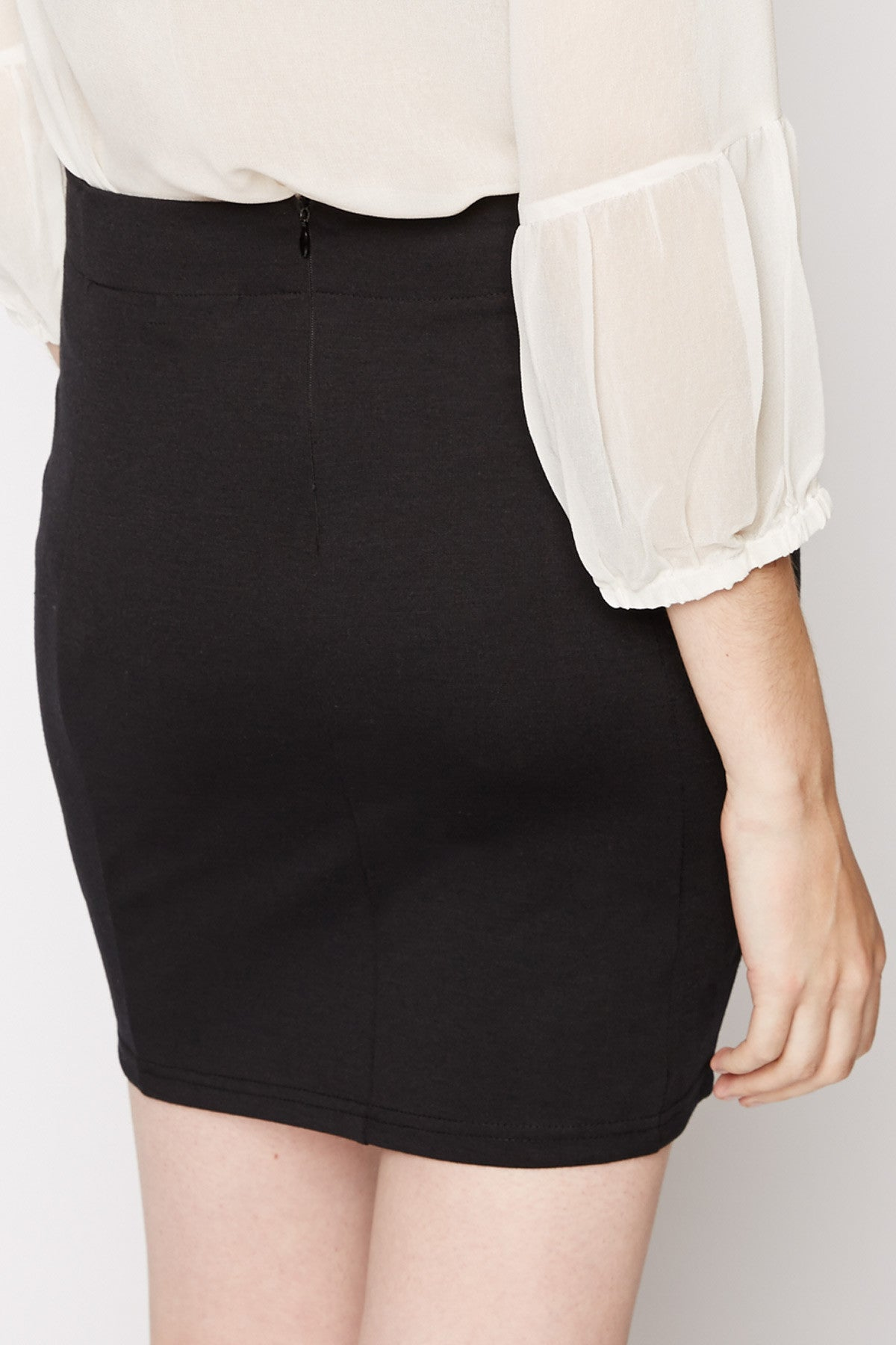 Aidos Leather Insert Pencil Skirt by Peppercorn