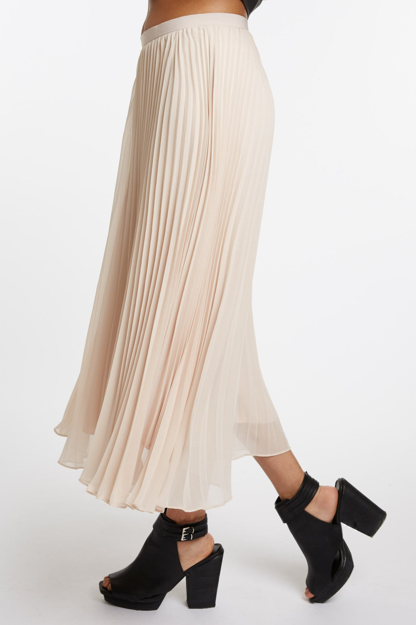 Pleated Midi Skirt by Search for Sanity